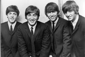 Os Beatles em 1964: McCartney, Lennon, Harrison e Starr.
