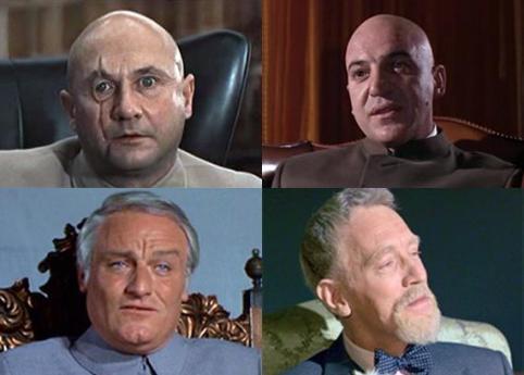 As quatro versões de Blofeld no cinema.