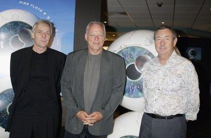 O Pink Floyd ainda reunido em 2005: Richard Wright, David Gilmour e Nick Mason.