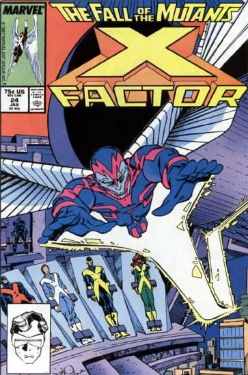 O Anjo como Morte na capa de X-Factor 24, de 1987.