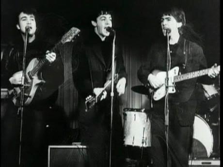 A banda no Star Club, em Hamburgo, em 1962.