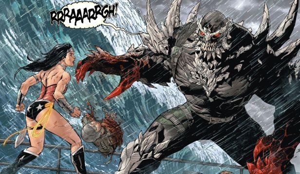 Mulher-Maravilha encara Doomsday nos quadrinhos.