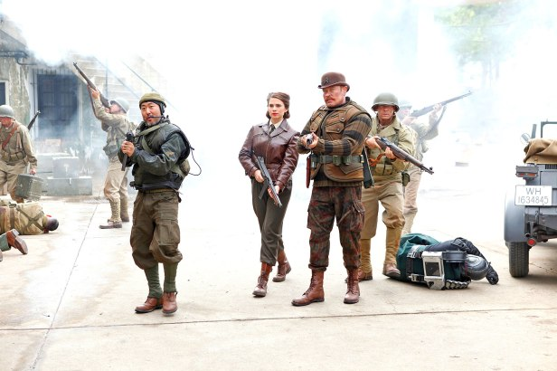 peggy carter and the howling commandos in agents-of-shield