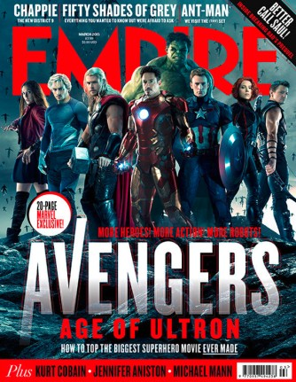 A capa da Empire com os heróis reunidos.