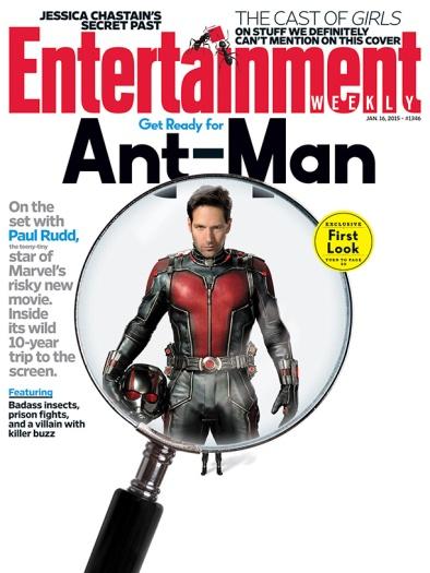 Homem-Formiga na capa da Entertainment Weekly.