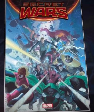Capa variante de Secret Wars.