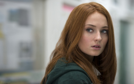 Sophie Turner é a Jean Grey adolescente.