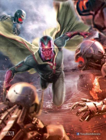 O Visão em arte promocional: Marvel ainda faz mistério sobre personagem.