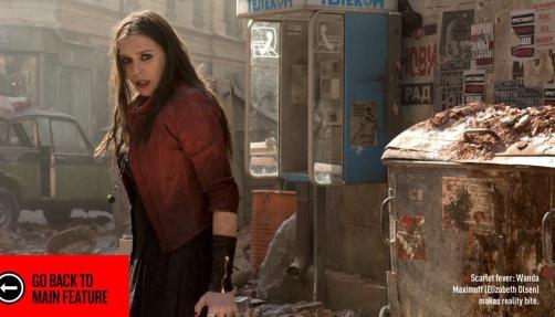 Wanda em ação no filme.