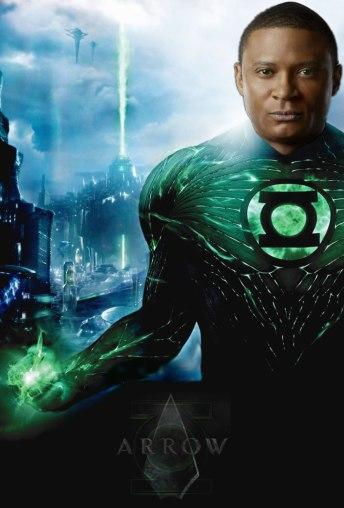 Montagem coloca John Diggle como Lanterna Verde.