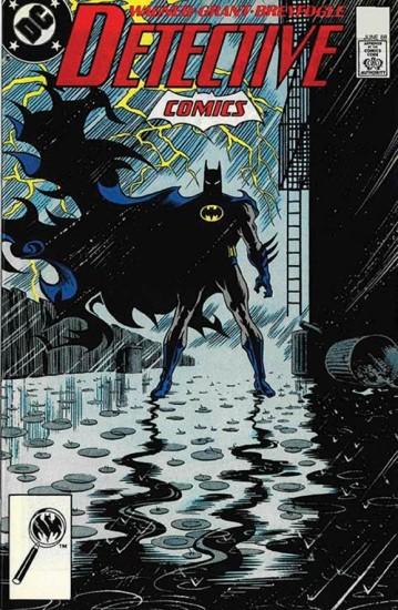 Detalhe da capa de Legends of the DArk Knight, com a arte de Norm Breyfogle.