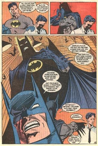 A expressividade do Batman era uma das grandes marcas do artista: página de Batman 455.