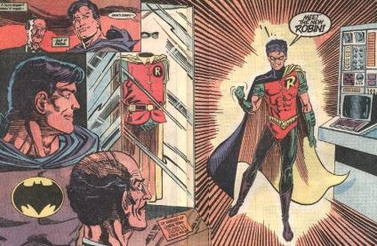 A introdução do novo Robin, em Batman 457.