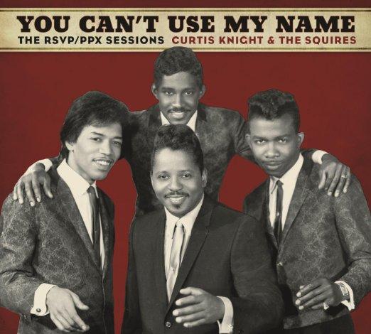 Hendrix (esq.) e os Squires: músico de apoio.