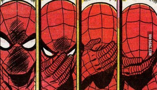 Esta sequência do Homem-ARanha desenhada por John Romita viralizou na internet como uma reação ao anúncio de Tom Rothman.