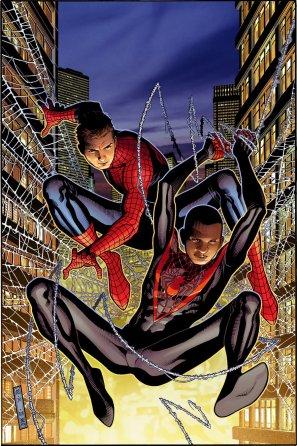 Peter Parker e Miles Morales.
