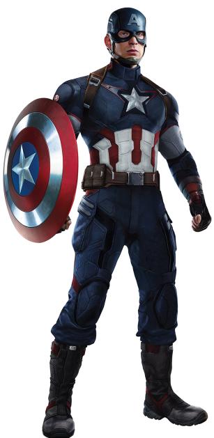 Capitão América: enfrentando ex-aliados em Guerra Civil.