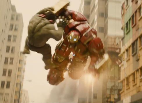 Hulk versus Hulkbuster.