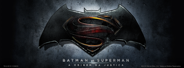 Logo oficial de Batman vs Superman no Brasil.