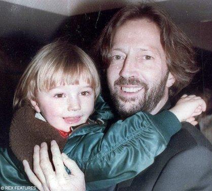 Clapton e o filho Connor: chega de álcool!