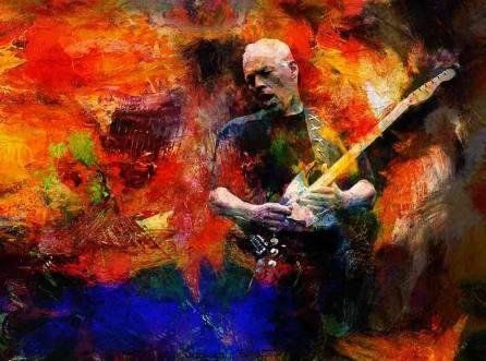 Imagem oficial de Gilmour para a turnê.