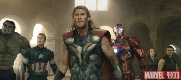 ageofultron official avengers completly in the castel