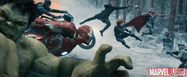 ageofultron official avengers in action on the snow