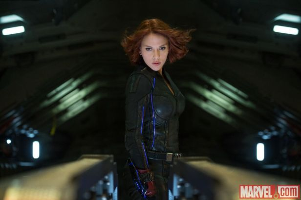 ageofultron official black widow on the center