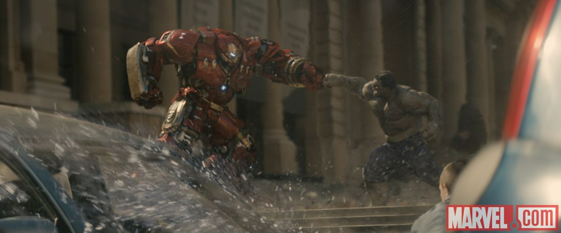 ageofultron official hulk vs hulkbuster punch