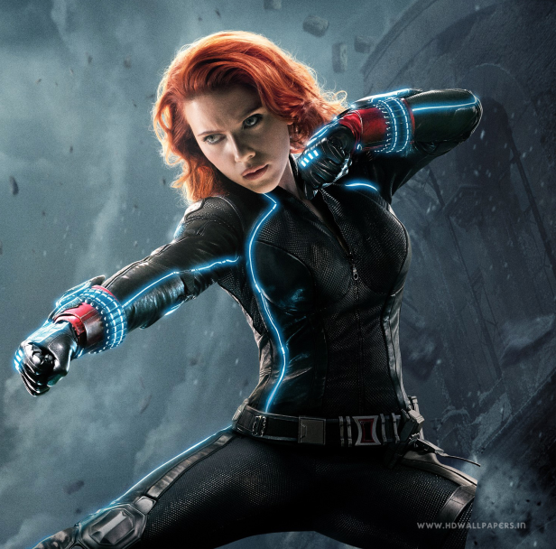 ageofultron promo art black widow and the lights