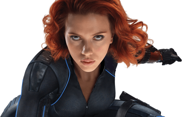 ageofultron promo art black widow in action