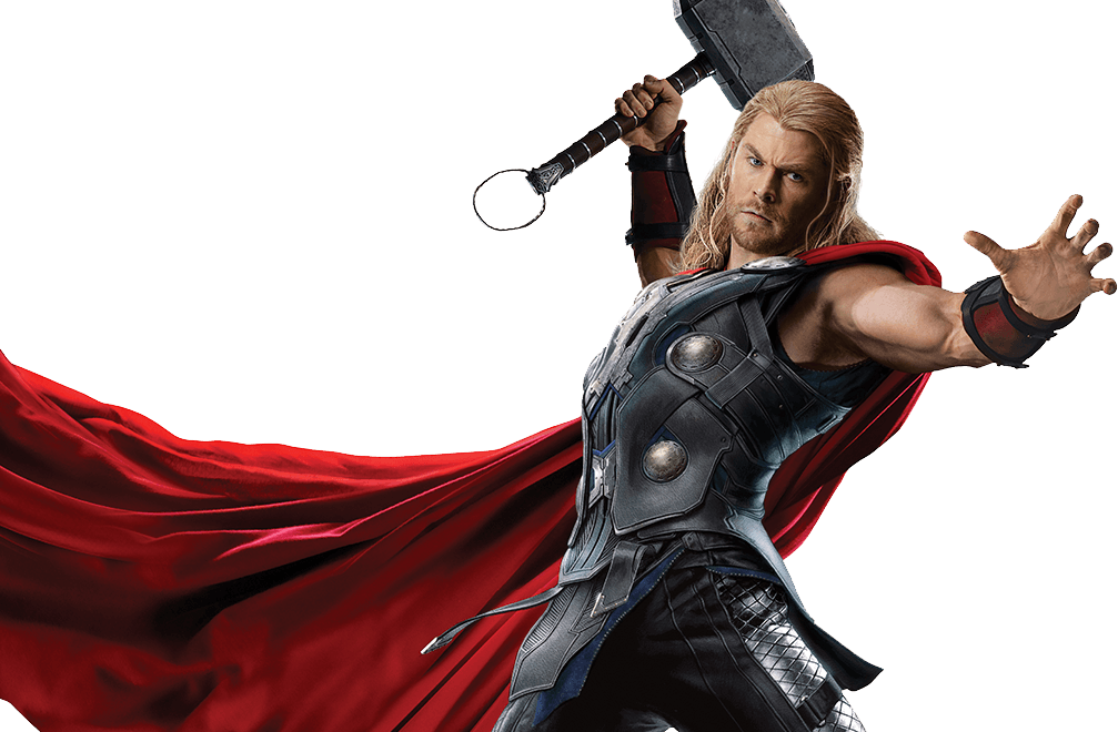 ageofultron promo art thor and the hammer
