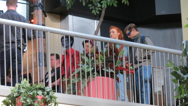 Filmagens de ontem: Noturno, Jubileu, Jean Grey e Ciclope adolescentes.