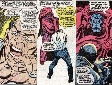 Ultron se revela como Manto Rubro. Ou o contrário.