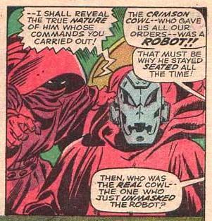 """A primeira aparição de Ultron: """"é só um robô...""""."""
