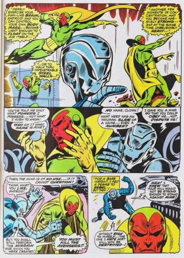 Ultron e Visão: criador e criatura.