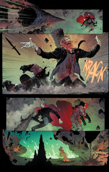 Página de Batman 40 com a luta final. O fim?