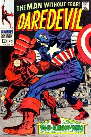 Contra o Capitão América, numa capa de Jack Kirby.