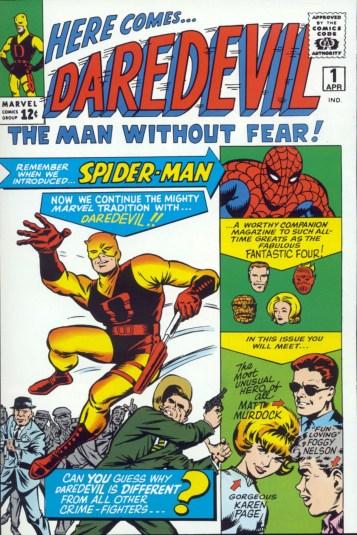 A capa de Daredevil 01, por Jack Kirby.