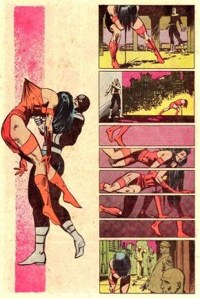 A clássica e chocante cena da morte de Elektra.