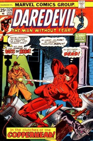 A edição 124 traz a chegada de Marv Wolfman e o fim da parceria com a Viúva Negra.