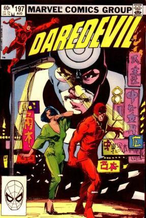 Demolidor, Mercenário e Yuriko na capa da edição 197.