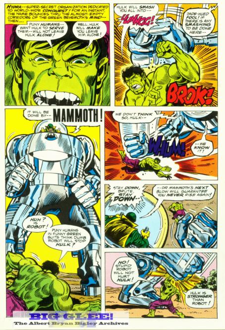 A arte de Trimpe na revista Hulk.