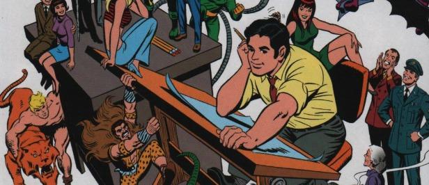 Auto retrato de John Romita: um dos maiores nomes da Marvel.