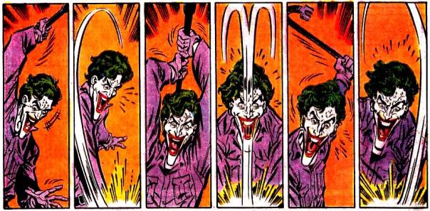 A cena brutal da morte de Robin na arte de Jim Aparo.