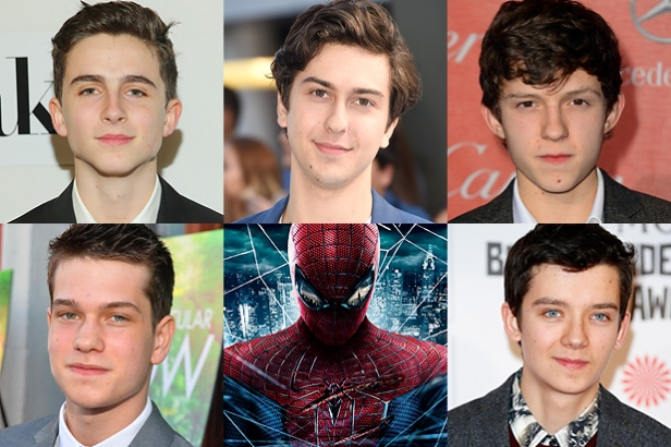 Os maioores candidatos a Homem-Aranha.