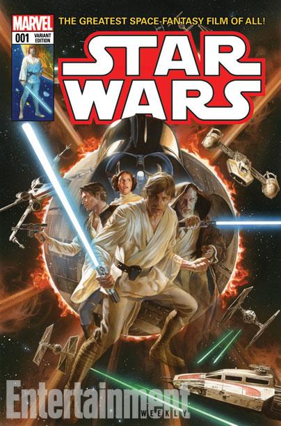 Capa variante da nova Star Wars 01 por Alex Ross.