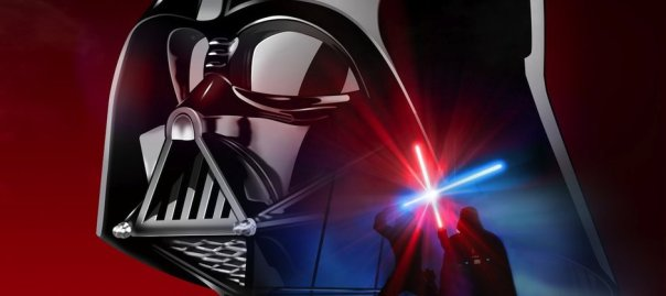 star wars banner darth vader and the battle