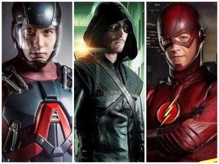 Átomo, Arqueiro e Flash.