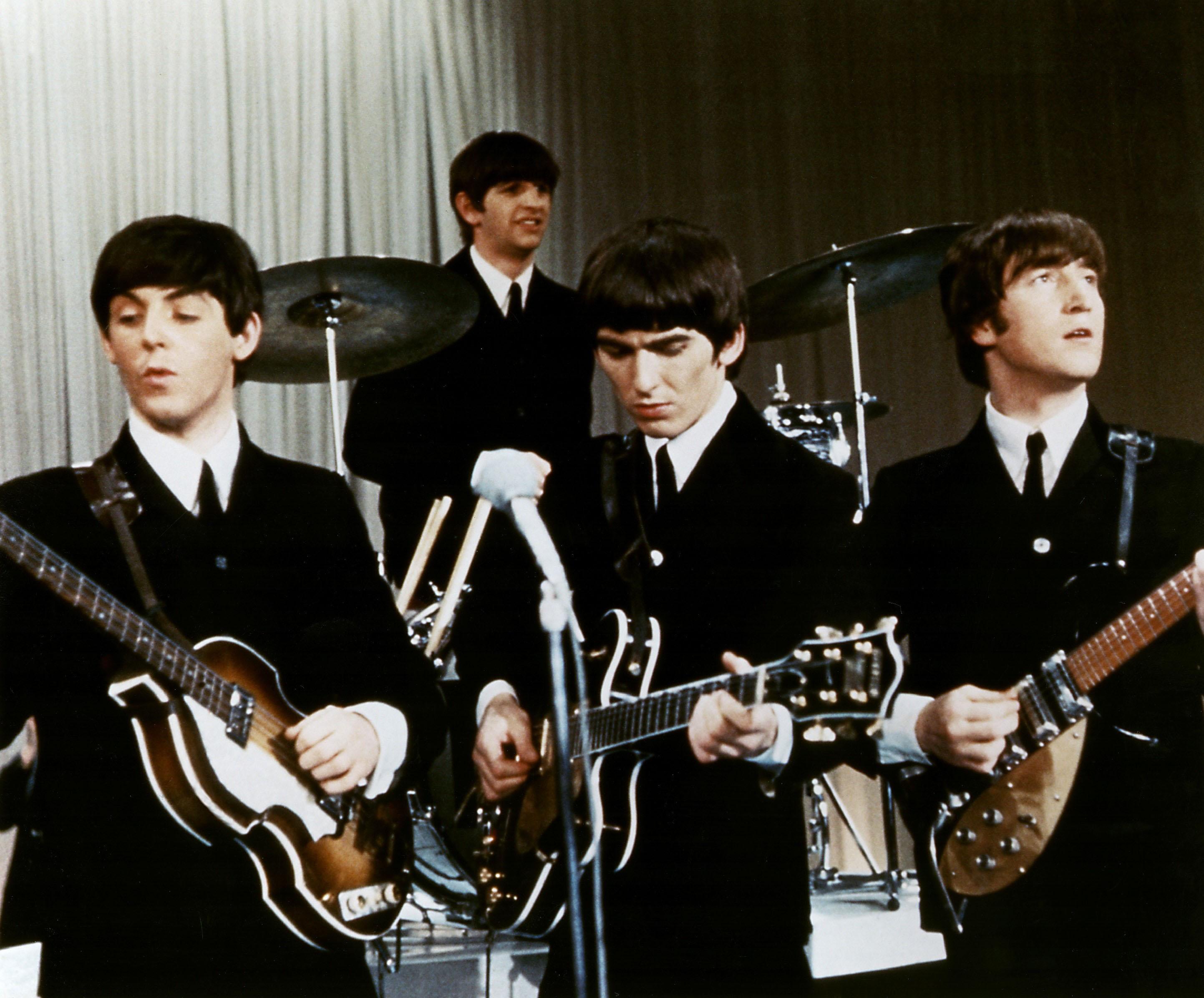 Beatles, The, 27.12.1960 - 11.4.1970, British band, with Paul McCartney, Ringo Starr, George Harrison, John Lennon, live perform